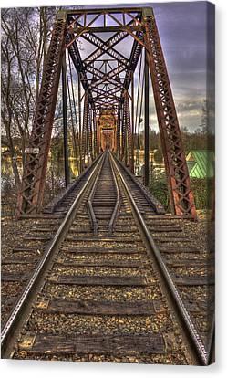 6th Street Rail Road Bridge Canvas Print by Reid Callaway