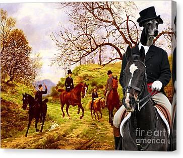 Greyhound Canvas Print -  Greyhound Art Canvas Print by Sandra Sij