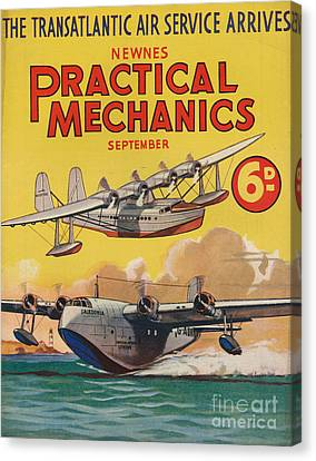 1930s Uk Practical Mechanics Magazine Canvas Print by The Advertising Archives