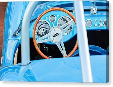 1959 Devin Ss Steering Wheel Canvas Print by Jill Reger