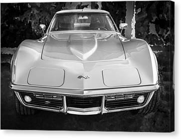 1969 Chevrolet Corvette 427 Bw Canvas Print by Rich Franco