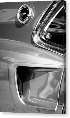 1969 Ford Mustang Mach 1 Side Emblem Canvas Print by Jill Reger