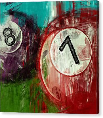 7 8 Billiards Canvas Print