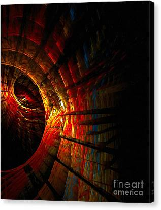 A Digital Painting Of Abstract Colouful Shapes Canvas Print by Ken Biggs