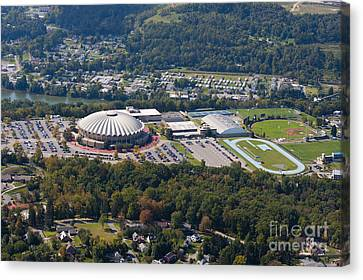 aerials of WVVU campus Canvas Print by Dan Friend