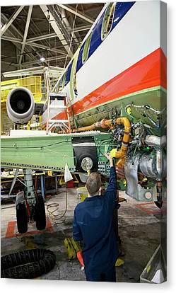 Aircraft Maintenance Canvas Print