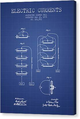 Alexander Graham Bell Electric Currents Bell Patent From 1876 -  Canvas Print by Aged Pixel