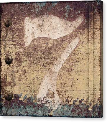 7 And Rivets Canvas Print by Carol Leigh