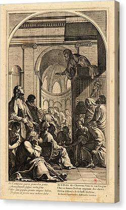 Plate 1 Canvas Print - Anonymous After Eustache Le Sueur French by Litz Collection