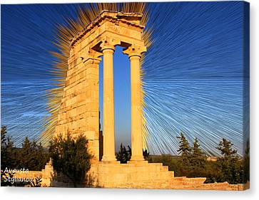 God Of Light Canvas Print - Apollo Sanctuary - Cyprus by Augusta Stylianou