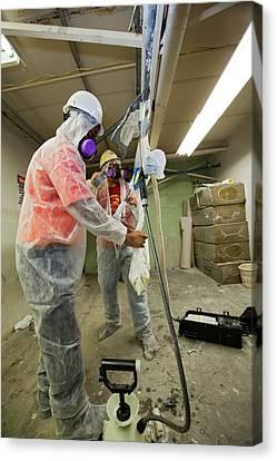 Asbestos Canvas Print - Asbestos Removal Training by Jim West