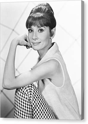 Audrey Hepburn Canvas Print by Silver Screen
