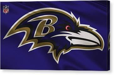 Baltimore Ravens Uniform Canvas Print by Joe Hamilton