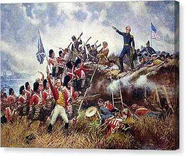 Battle Of New Orleans, 1815 Canvas Print by Granger