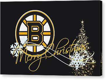 Hockey Canvas Print - Boston Bruins by Joe Hamilton