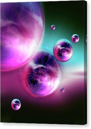 Bubble Universes Canvas Print by Detlev Van Ravenswaay