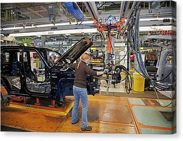 Car Production Assembly Line Canvas Print by Jim West