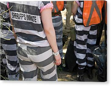 Law Enforcement Canvas Print - Chain Gang by Jim West