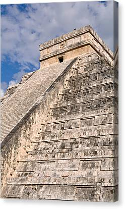 Chichen Itza Modern Seven Wonders Of The World In Mexico Canvas Print by Brandon Bourdages