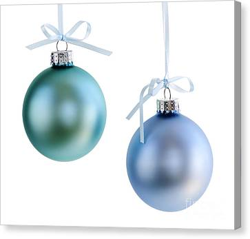 Sphere Canvas Print - Christmas Ornaments by Elena Elisseeva