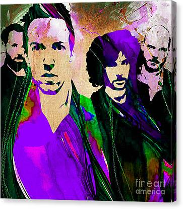 Coldplay Collection Canvas Print by Marvin Blaine