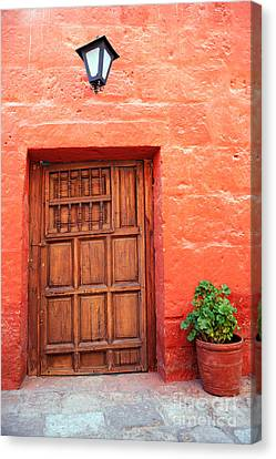 Colorful Old Architecture Details Canvas Print by Yaromir Mlynski