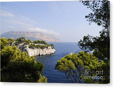 Turquois Water Canvas Print -  Beautiful View At The Bay On Cote D'azur by Maja Sokolowska