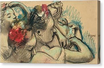 Dancers Canvas Print by Edgar Degas