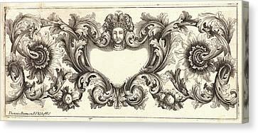 Plate 1 Canvas Print - Domenico Bonavera Aka Domenico Bonaveri Italian by Litz Collection