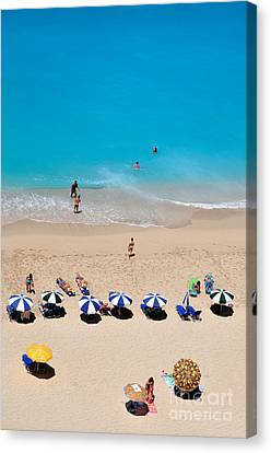 Journey Canvas Print - Egremni Beach by George Atsametakis
