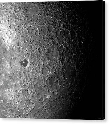 Far Side Of The Moon Canvas Print by Detlev Van Ravenswaay