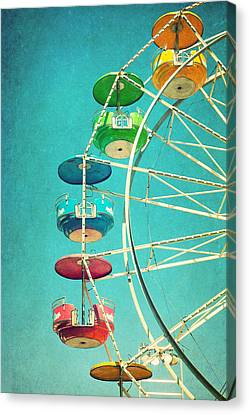 Ferris Wheel Canvas Print by June Marie Sobrito