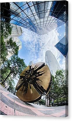 Financial Skyscraper Buildings In Charlotte North Carolina Usa Canvas Print by Alex Grichenko