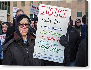 Flint Drinking Water Protest Canvas Print by Jim West