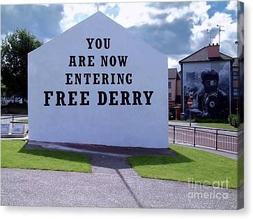 Free Derry Corner Canvas Print by Nina Ficur Feenan