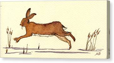 Rodent Canvas Print - Hare by Juan  Bosco