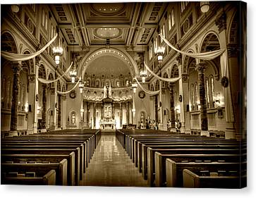 Holy Cross Catholic Church Canvas Print by Amanda Stadther