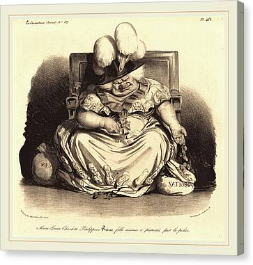 Marie-louise Canvas Print - Honoré Daumier French, 1808-1879 by Litz Collection