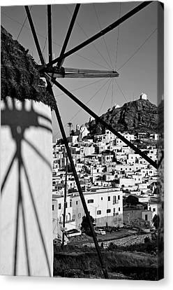 Shadow Canvas Print - Ios Town by George Atsametakis