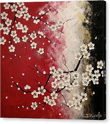 Japanese Plum Blossoms Canvas Print by Tomoko Koyama