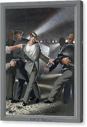 7. Jesus Is Arrested / From The Passion Of Christ - A Gay Vision Canvas Print by Douglas Blanchard