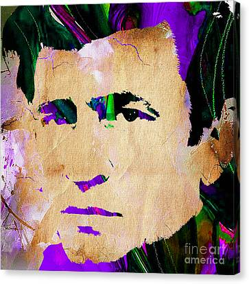 Johnny Cash Canvas Print - Johnny Cash Collection by Marvin Blaine
