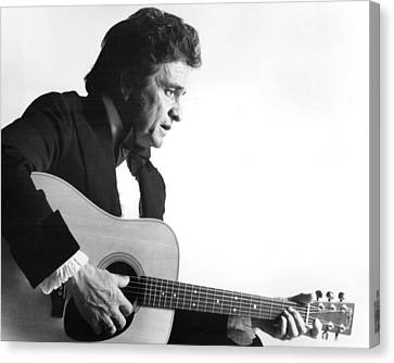 Nashville Canvas Print - Johnny Cash by Retro Images Archive