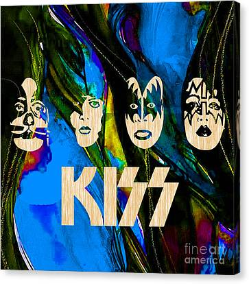 Kiss Collection Canvas Print by Marvin Blaine