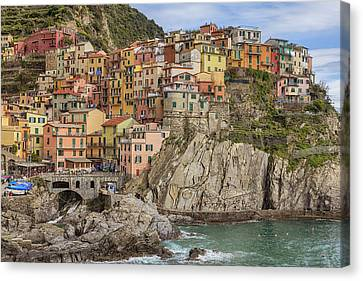 Port Town Canvas Print - Manarola by Joana Kruse