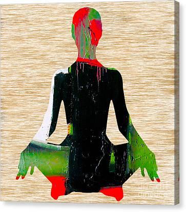 Meditation Canvas Print by Marvin Blaine