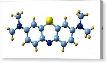 Methylene Blue, Molecular Model Canvas Print by Dr. Mark J. Winter