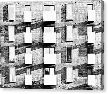 Modern Apartments Canvas Print by Tom Gowanlock