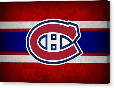 Skates Canvas Print - Montreal Canadiens by Joe Hamilton