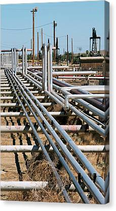 Taft Canvas Print - Natural Gas Pipelines by Jim West